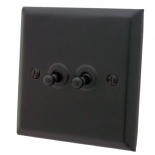 Spectrum Matt Black Toggle Light Switches